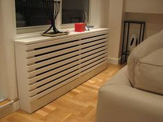 """Radiator covers don't have to be ugly! When this client contacted me the first thing she asked was, """"Can you make my radiators look mode..."""