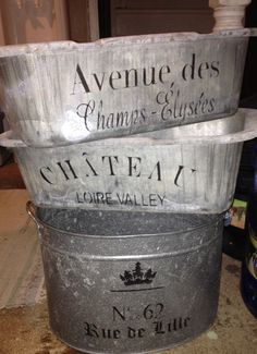 French Inspired Zinc Containers! DIY...See thefrenchinspiredroom.com