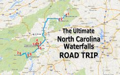 The Ultimate North Carolina Waterfall Road Trip Will Take You To 8 Scenic Spots In The State Western North Carolina, North Carolina Mountains, North Carolina Homes, South Carolina, Sliding Rock North Carolina, North Carolina Day Trips, Nc Waterfalls, North Carolina Waterfalls, Asheville Waterfalls