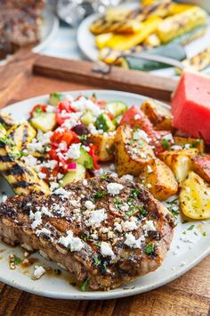 Greek Style Grilled Lamb or Goat Chops Lamb Steak Recipes, Grilling Recipes, Cooking Recipes, Bacon Recipes, Grilling Shrimp, Grilling Ribs, Grilling Corn, Grilling Chicken, Grilling