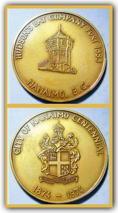 Anniversary commemorative of the Hudson's Bay Company building the Nanaimo Bastion on Vancouver Island in 1853. The bastions still stands today as it has been well preserved and looked after by the City of Nanaimo.