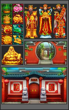 slots作品|插画|游戏原画|武汉视灵 - 原创作品 - 站酷 (ZCOOL) Doubledown Casino, Casino Theme, Live Casino, Best Casino Games, Online Casino Games, Lightning Link, Seasons Activities, Play Slots, Chinese Symbols