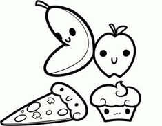 fruits kawaii coloring pages printable and coloring book to print for free. Find more coloring pages online for kids and adults of fruits kawaii coloring pages to print. Cupcake Coloring Pages, Chibi Coloring Pages, Fruit Coloring Pages, Princess Coloring Pages, Cute Coloring Pages, Doodle Coloring, Disney Coloring Pages, Animal Coloring Pages, Coloring Sheets