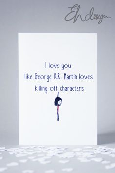 Funny Game of Thrones Card *Blank Inside*
