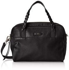 Foley   Corinna Cable Satchel Top Handle Bag, Black, One Size ** Details can be found at