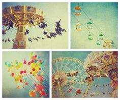 Carnival print gift set: Turquoise Carnival - a set of 5x5 and 5x7 summer carnival prints