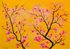 Painting of Flowers on a canvas