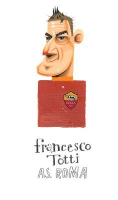 #RomaArt  https://www.behance.net/gallery/21090733/Francesco-Totti-illustration