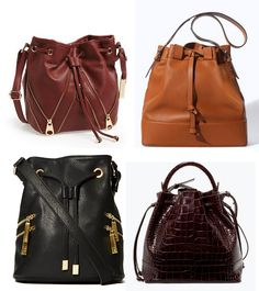 I've been seeing Bucket Bag's everywhere lately! I've had a cute black o. Bucket Bags, Autumn Fashion, Fashion Accessories, Fall, Cute, Black, Autumn, Fall Fashion, Black People