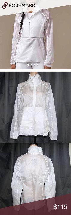 NWT LULULEMON run with it white jacket Sz 8 NWT  Lululemon run with it white jacket  100% polyester sz 8 lululemon athletica Jackets & Coats