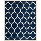 Chatham Dark Blue/Ivory 7 ft. 6 in. x 9 ft. 6 in. Area Rug
