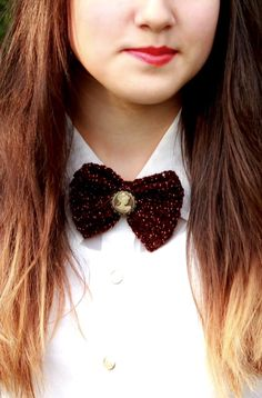 Papion crosetat-Crochet bow tie (: