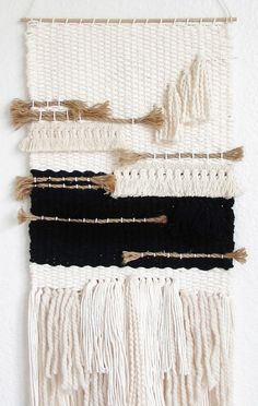 Items similar to Weaving wall hanging/ handmade wall hanging art tapestry/Minimalist art on Etsy Weaving Textiles, Weaving Art, Loom Weaving, Tapestry Weaving, Weaving Wall Hanging, Hanging Art, Weaving Projects, Macrame Projects, Southwest Rugs