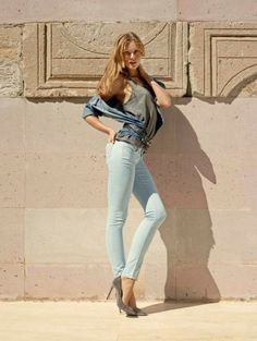 Frida Gustavsson & Magdalena Frackowiak Pose in Mavi Jeans Spring 2014 Campaign ( Bliqx.net )