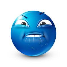 Blue Emoji, Emoji Love, Funny Emoji Faces, Funny Emoticons, Smileys, Emoji Pictures, Funny Pictures, Emoji Man, Happy Smiley Face