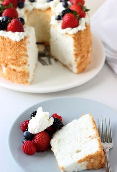 Honey Coconut Angel Food Cake - Blahnik Baker