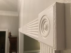 Incredible detail on this crown molding! Classical Greece, Classical Antiquity, Picture Frame Wainscoting, Picture Frames, Chair Rail Molding, Roman Architecture, Crown Molding, Next At Home, Modern House Design
