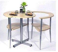 two-person table. this is a SWEET space saver...and cool looking to boot...