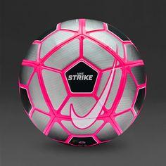 Nike Strike - Wolf Grey/Black/(Hyper Pink) I want this ball Nike Soccer Ball, Soccer Gear, Soccer Equipment, Play Soccer, Nike Football, Soccer Cleats, Soccer Players, Soccer Stuff, Girls Football Boots