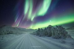 Road view - This photo was taken at 1 am in the morning, just outside of…