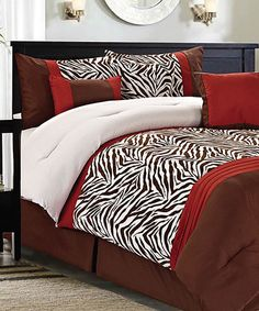 Take a look at this Brick Calver Comforter Set by CHD Textiles on #zulily today!