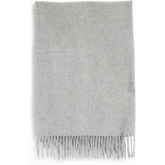 ACNE STUDIOS Canada Wool Scarf (230 AUD) ❤ liked on Polyvore featuring accessories, scarves, woolen shawl, gray scarves, woolen scarves, acne studios and grey scarves