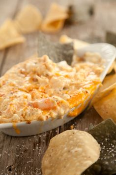 Paula Deen's crab meat, parmesan, and shrimp dip