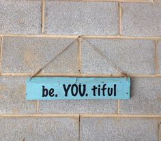 Hanging Pallet Sign - Beautiful, Beach Decor, Rustic Decor, Inspirational, Girl, Teenager, Home, Office, Bedroom on Etsy, $15.00