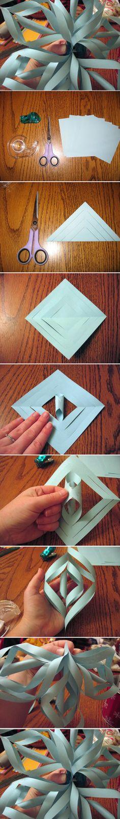 DIY Ideas: 3D Paper Snowflake
