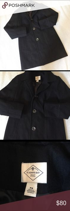 St Johns Bay wool blend jacket Nwot, no signs of wear. 55%wool 34%polyester 11%other fibers. Liner 100%polyester. Pet friendly smoke free home :) St. John's Bay Jackets & Coats Pea Coats