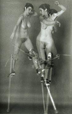 Krzysztof Pruszkowski Doloreze Echassses (Female Nude on Stilts)1984
