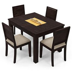 Exceptional Buy 4 Seater Dining Table Sets In Your Budget. Wooden Space Provides  Stylish And Attractive Set Of 4 Seater Dining Table At Pocket Friendly  Price.