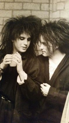 Backstage picture of Simon Gallup and Robert Smith made by me :-), Ahoy Rotterdam, The Netherlands, 1982
