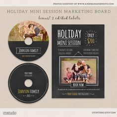 Christmas mini session template marketing board plus by OtoStudio, $8.50