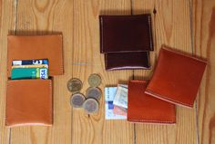 Wallet handmade leather desing Ludena fot your money and por Ludena