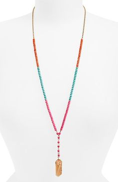 Panacea Beaded Pendant Necklace available at #Nordstrom