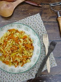 Cocina para burros: Arroz salteado con puerro y zanahoria