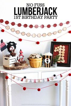 1st Boy Lumberjack Birthday Party See More Ideas At CatchMyParty Fourth