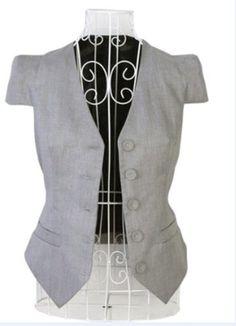 ELLAZHU Women Casual Short Sleeve Bodycon Long Waistcoat Suit Vest Grey (Size S) ELLAZHU, http://www.amazon.com/dp/B008L60Y06/ref=cm_sw_r_pi_dp_xsrWqb0HGDV5R