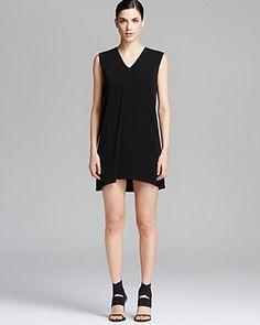 Helmut Lang Dress - Faint V Neck Drape Fold | Bloomingdale's