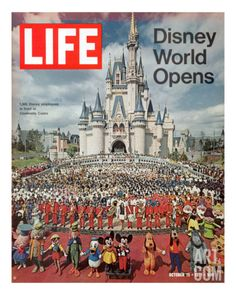 Disney World Opens, October 15, 1971 Premium Photographic Print by Yale Joel at Art.com