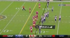 TV Announcer Gives A Play-By-Play Of A Streaker On The Field At An NFL Game