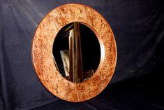 Burl Blackwood Veneer Handmade Mirror