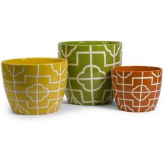 Ellsworth Graphic Planters (Set of 3)