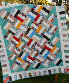 Jelly Roll Quilt Patterns   Jelly Roll Quilt Pattern - Pickup Sticks - Baby and Throw ...   quilt