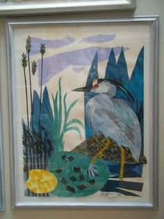 """Night Heron"" by Mark Hearld (collage)"