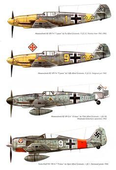 Messerschmitt BF 109 F - G Focke Wulf 190 A7