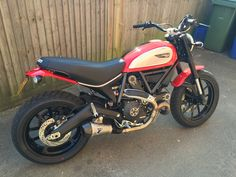 Scrambler icon in red with extras for sale | Ducati Scrambler Forum