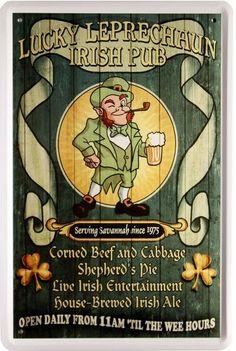 Irish Pub House Brewed Irish Ale Beer Bier Blechschild 20x30 Metallschild 12,25 €uro angeboten in Ebay