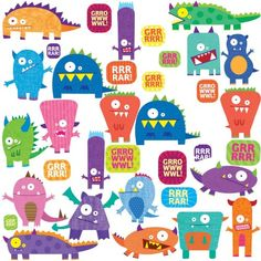 RoomMates RMK1472SCS Monsters Peel  Stick Wall Decals -- Check out the image by visiting the link.
